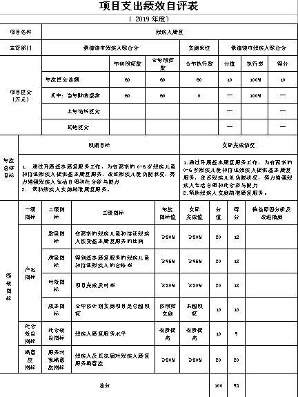 景德镇市残疾人联合会2019年度部门决算